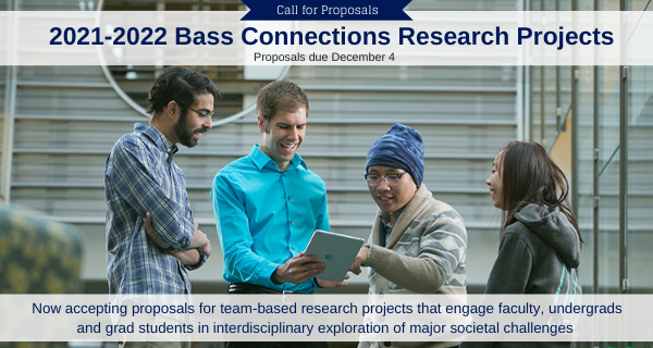 Bass Connections Request for Project Proposals slide